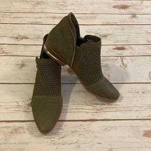 Fergie Perforated Ida Ankle Booties Size 8